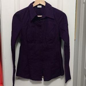 [3/$10] Purple dress shirt - S/P - Suzy Shier